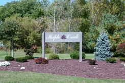 Maple Creek Subdivision, Saline MI Entrance