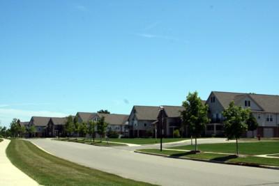 Rosewood Village, Ann Arbor View Down Street