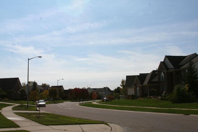 Woodcreek Subdivision, Ann Arbor View Down Street