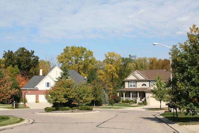 Woodcreek Subdivision, Ann Arbor View of Cul-De-Sac