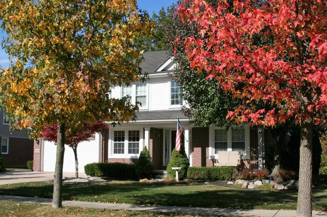 Cobblestone Ridge, Canton Neighborhood Fall View